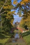 De brug van de herfst stock afbeeldingen