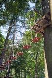 De brug van de kabel stock foto