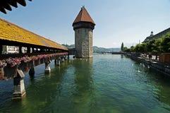 De brug van de kapel, Luzern Royalty-vrije Stock Afbeelding