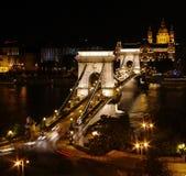 De Brug van de ketting in Boedapest Royalty-vrije Stock Fotografie