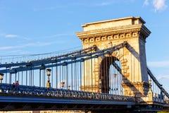De brug van de ketting, Boedapest, Hongarije Royalty-vrije Stock Afbeeldingen