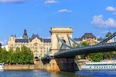 De brug van de ketting, Boedapest, Hongarije Royalty-vrije Stock Foto's