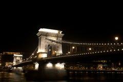 De brug van de ketting, Boedapest, Hongarije Stock Afbeeldingen