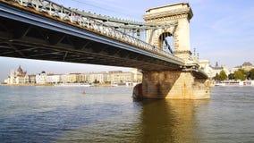 De Brug van de ketting in Boedapest, Hongarije Stock Afbeeldingen