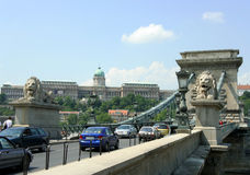 De Brug van de Ketting van Boedapest Stock Foto's