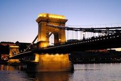 De Brug van de ketting van Boedapest, Hongarije Stock Foto