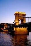 De Brug van de ketting van Boedapest, Hongarije Stock Fotografie