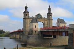 De brug van de koningin Louise Royalty-vrije Stock Afbeeldingen