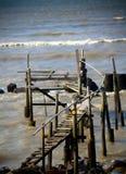 De brug van de kust royalty-vrije stock foto's
