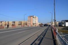 De brug van de Lugojstad stock afbeeldingen