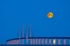 De brug van de maan Royalty-vrije Stock Foto's