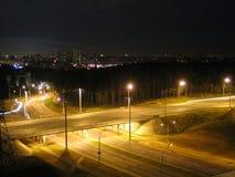 De brug van de nacht Royalty-vrije Stock Foto's