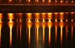 De brug van de nacht Stock Foto's