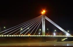 De brug van de nacht Royalty-vrije Stock Foto