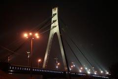 De brug van de nacht Stock Afbeeldingen