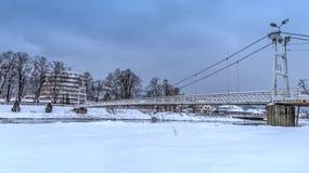 De Brug van de opschorting Bridge Royalty-vrije Stock Afbeeldingen
