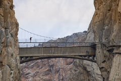 De Brug van de opschorting Bridge Royalty-vrije Stock Foto's