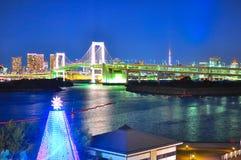 De brug van de regenboog van Odaiba, Tokyo Royalty-vrije Stock Foto's