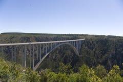 De brug van de Rivier van Bloukrans (216 m) Stock Foto
