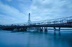 De brug van de Schroef en de Vlieger van Singapore Royalty-vrije Stock Foto