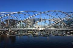 De brug van de Schroef, Singapore Stock Foto