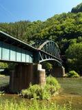 De brug van de spoorweg Stock Afbeeldingen