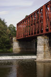 De brug van de spoorweg Stock Fotografie