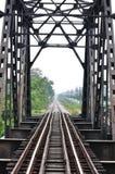 De brug van de spoorweg in Bangkok van Thailand stock afbeeldingen