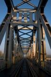De brug van de spoorweg (III.) stock foto