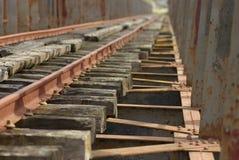 De brug van de spoorweg over de Guadiana Royalty-vrije Stock Afbeeldingen