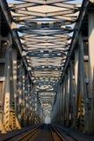 De brug van de spoorweg (V.) Stock Foto's