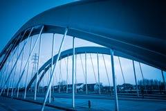 De brug van de staalstructuur Royalty-vrije Stock Afbeelding
