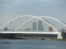 De brug van de stad stock afbeelding