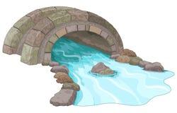 De brug van de steen vector illustratie