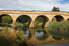 De brug van de steen in Richmond, Tasmanige Royalty-vrije Stock Foto's