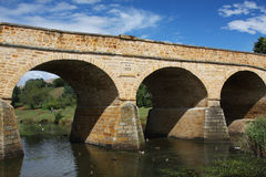 De brug van de steen in Richmond, Tasmanige Stock Fotografie