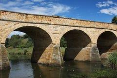 De brug van de steen in Richmond, Tasmanige Stock Fotografie