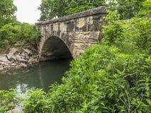 De brug van de steenboog, Sterke Stad, Kansas Stock Fotografie
