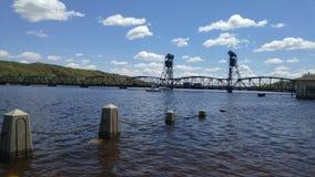 De brug van de Stillwaterlift in Stillwater, Minnesota Stock Foto