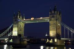 De Brug van de toren bij nacht Royalty-vrije Stock Fotografie