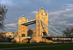De Brug van de toren, Londen, Engeland, het UK, Europa, de winter Royalty-vrije Stock Afbeelding