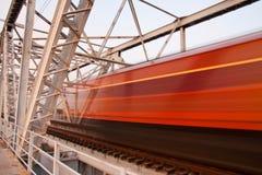 De brug van de trein Stock Fotografie