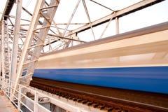 De brug van de trein Stock Afbeeldingen