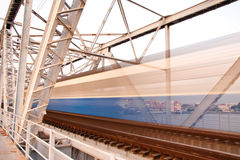 De brug van de trein Royalty-vrije Stock Afbeeldingen