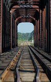 De brug van de trein op riviere des mille iles, Canada 3 Royalty-vrije Stock Foto