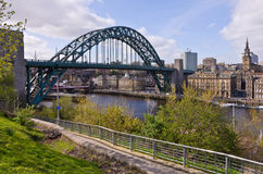 De Brug van de Tyne - Newcastle Stock Afbeeldingen