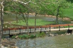 De brug van de voet Stock Foto's