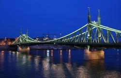 De Brug van de vrijheid in Boedapest stock foto