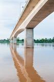 De brug van de vrijheid in Laos Stock Foto