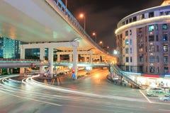 De brug van de weg in Shanghai Stock Afbeelding